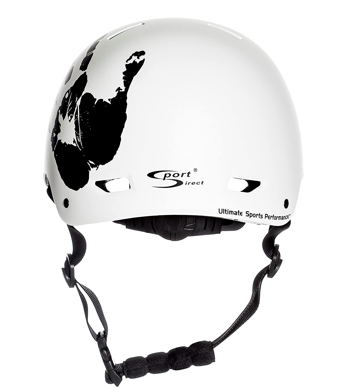 Sport DirectTM bicicletta BMX Skateboard La Mano Casco Ciclo Bianco 57-5