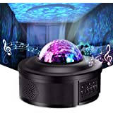 Star Projector Night Light Projector with LED Galaxy Ocean Wave Projector Bluetooth Music Speaker for Baby Bedroom,Game Rooms