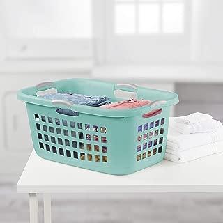 product image for Sterilite 12167906, 2 Bushel 71 L Ultra Laundry Basket, Aqua Chrome with Titanium Handles, 6 Pack