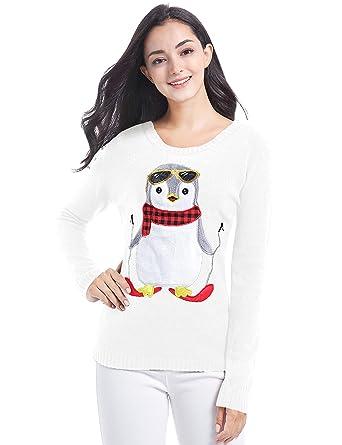 b5e8a32e7b v28 Christmas Sweater Cardigan Ugly Women Girls Santa Vintage Knit Xmas  Sweater (Small