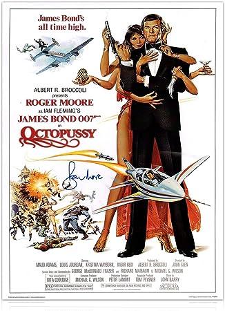 Roger Moore firmó Octopussy James Bond película Póster: Amazon.es: Deportes y aire libre