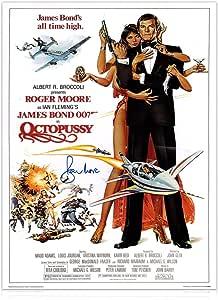 Roger Moore firmó Octopussy James Bond película Póster: Amazon.es ...