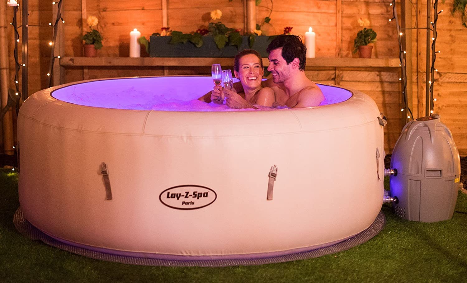 Lay Z Spa Paris Hot Tub With Led Lights Airjet Inflatable 4 6