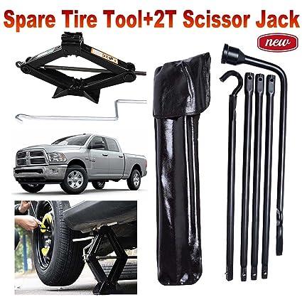 Amazon.com: Spare Tire Tool Kit Lug Wrench & Scissor Jack For Dodge