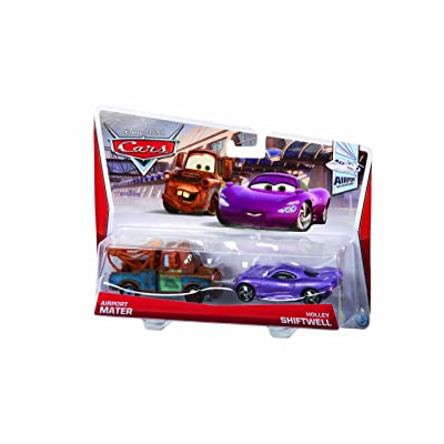 Disney Pixar Cars Mater with Shadow of Team Logo and Holly Diecast Vehicle, 2-Pack: Toys & Games