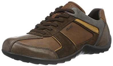 första kurs den bästa attityden bättre Geox Men's U Pavel B Low-Top Sneakers, Braun (Cognac/DK BROWNC6033 ...