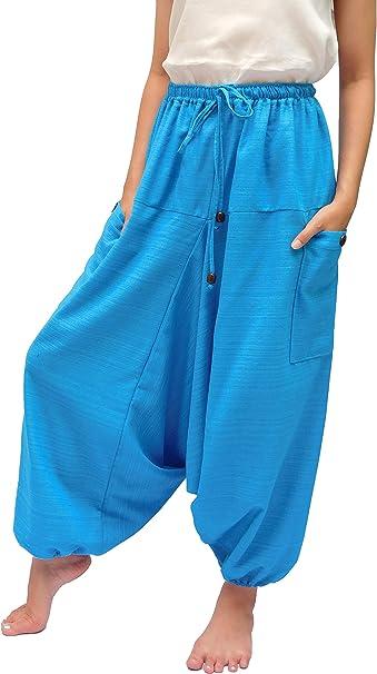 Amazon.com: Wynnthaishop Pantalones de harén de ...