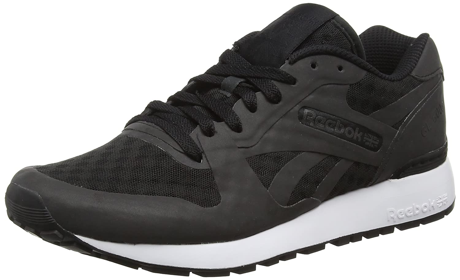 Reebok Herren Gl 6000 Hidden Messaging Tech Pack Sneaker, Schwarz  45 EU|Schwarz (Black/White)