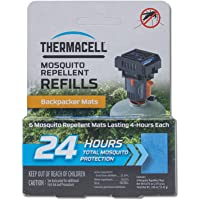 Thermacell Backpacker Mosquito Repellent Mat-Only Refills, 24-Hour Pack; Contains 6 Repellent Mats, Each Lasting 4 Hours…