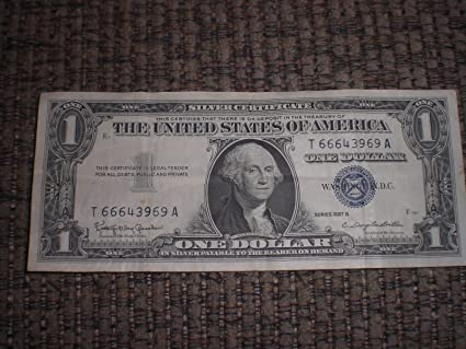 Amazon.com : 1 Dollar Silver Certificate Series 1957 B : Everything Else
