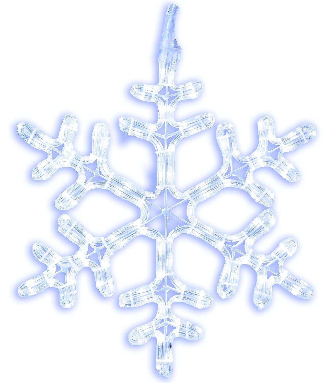 Best Season LED-Ropelight-Silhouette Schneeflocke, Durchmesser Durchmesser Durchmesser circa 40 cm, 120 cool weiß LED, outdoor 800-61 008246