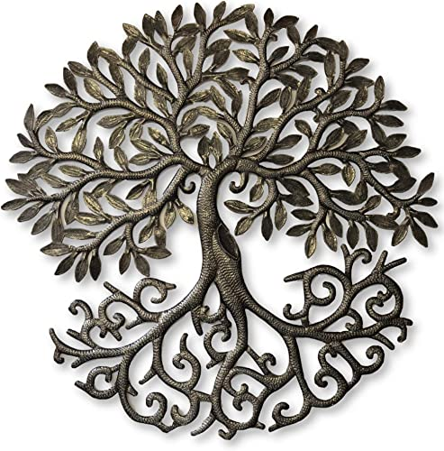 it s cactus – metal art haiti Tree of Life, Decorative Sculptures, Home Decor Wall Hangings, Family Tree, Roots, Flowers, 24 in. x 24 in. Dancing Tree