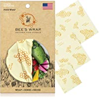 Bee's Wrap Assorted 3 Pack, Eco Friendly Reusable Food Wraps, Sustainable Plastic Free Food Storage - 1 Small, 1 Medium…