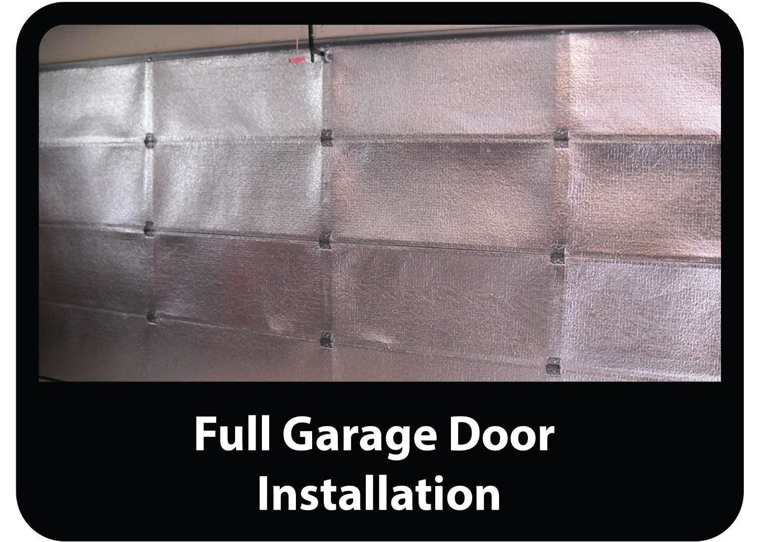 Low-E SSR 2 Car Garage Door Reflective Silver Foam Core Insulation Kit