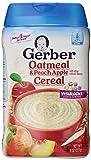 Gerber Baby Cereal Oatmeal, Peach Apple, 8 Ounce
