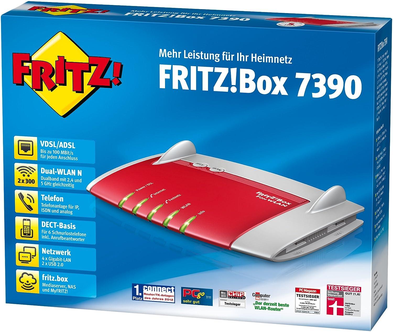avm fritz box 7490 wlan ac n router vdsl adsl mbit s 5 ghz 450 mbit s 2 4 ghz. Black Bedroom Furniture Sets. Home Design Ideas
