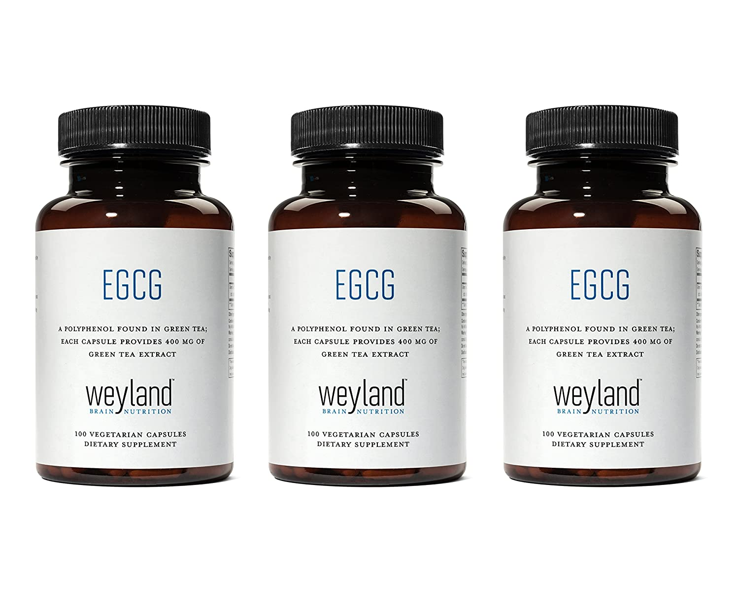 Weyland EGCG from Green Tea Extract 3 Bottles