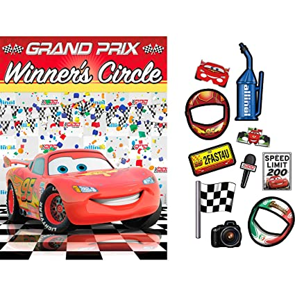 Amazoncom Hallmark Disney Cars Dream Party Backdrop Props Kit - Car show display props