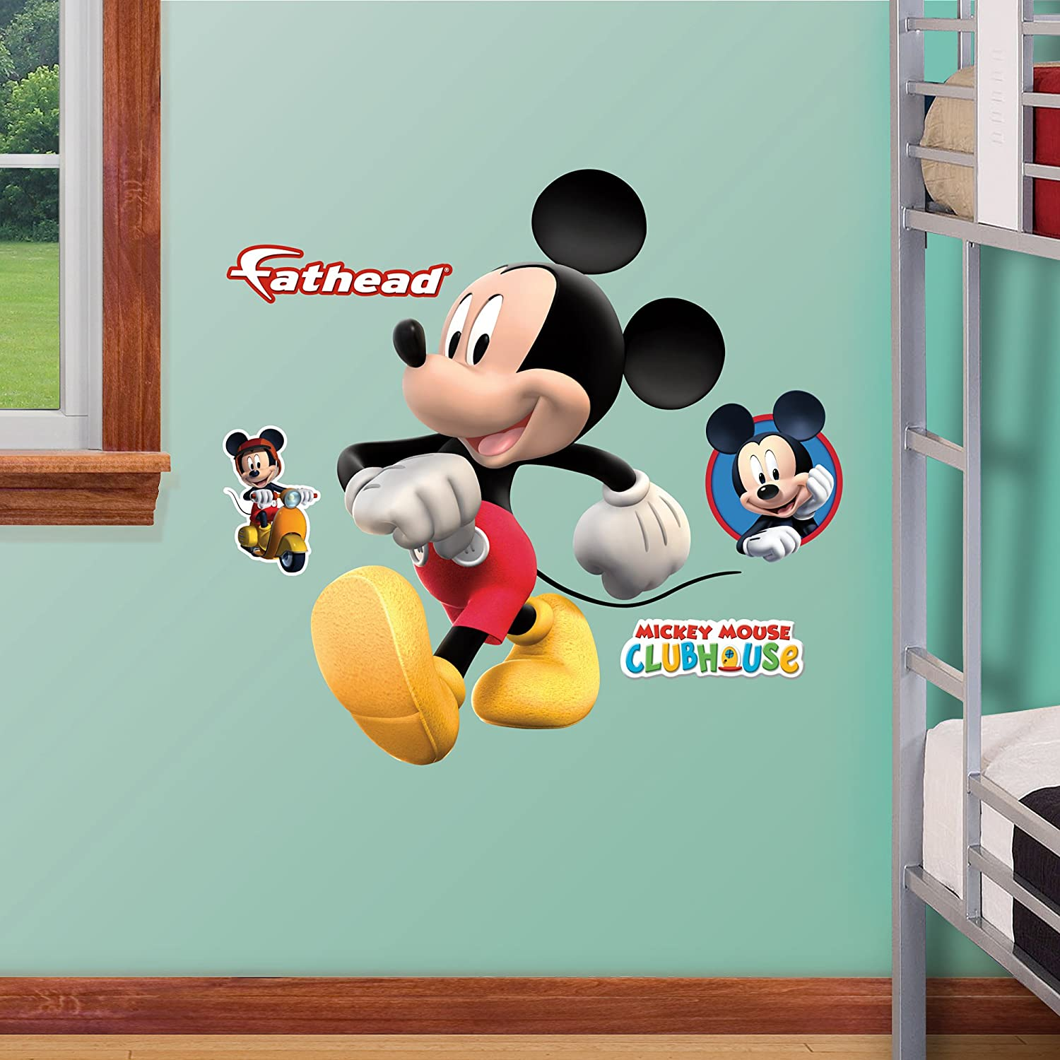 Amazon Fathead Mickey Mouse Jr Graphic Wall Dcor Home Kitchen
