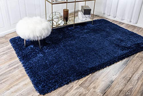 Unique Loom Marilyn Monroe Shag Collection Glamorous Plush Blue Jeane Area Rug 5 0 x 8 0