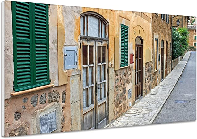 Fachada España Mallorca hogar Puerta Calle Busch Lienzo Póster Impresión de VK1114, lona, 150x100: Amazon.es: Hogar