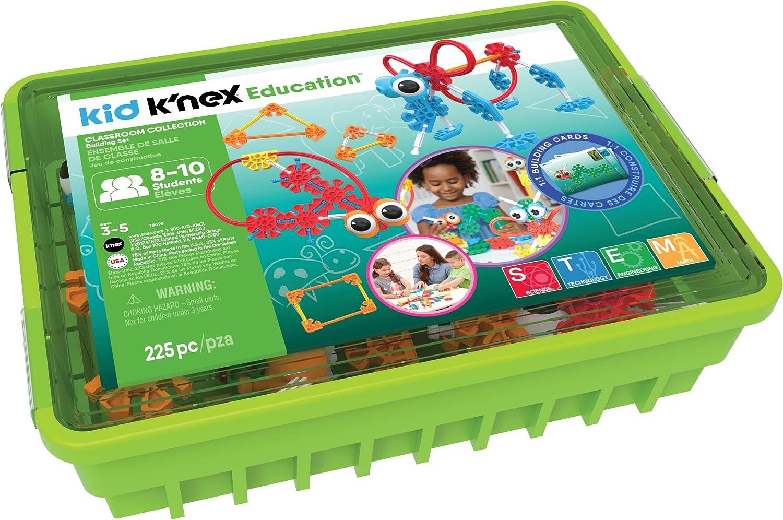 K 'NEX 78698 Educación Kid K' NEX aula colección para edades 3 + construcción juguete educativo, 8 – 10 estudiantes, 225-pieces