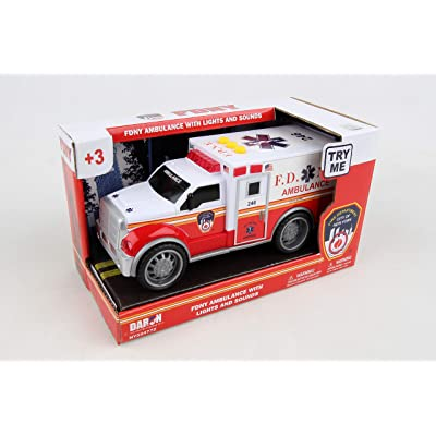 Daron FDNY Ambulance with Lights & Sounds: Toys & Games