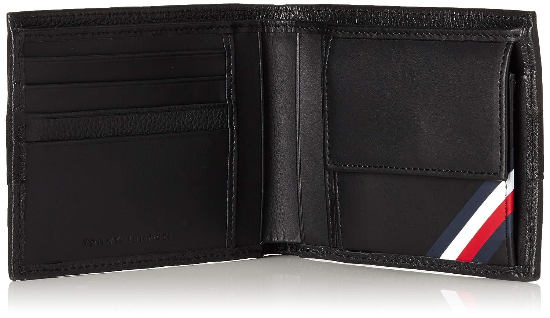 Tommy Hilfiger Portefeuille noir /à volets en cuir pour homme