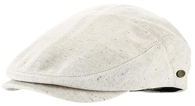 0576e785 Men's Thick Cotton Summer Newsboy Cap SnapBrim Ivy Driving Stylish Hat  (Beige Sprinkle-2924