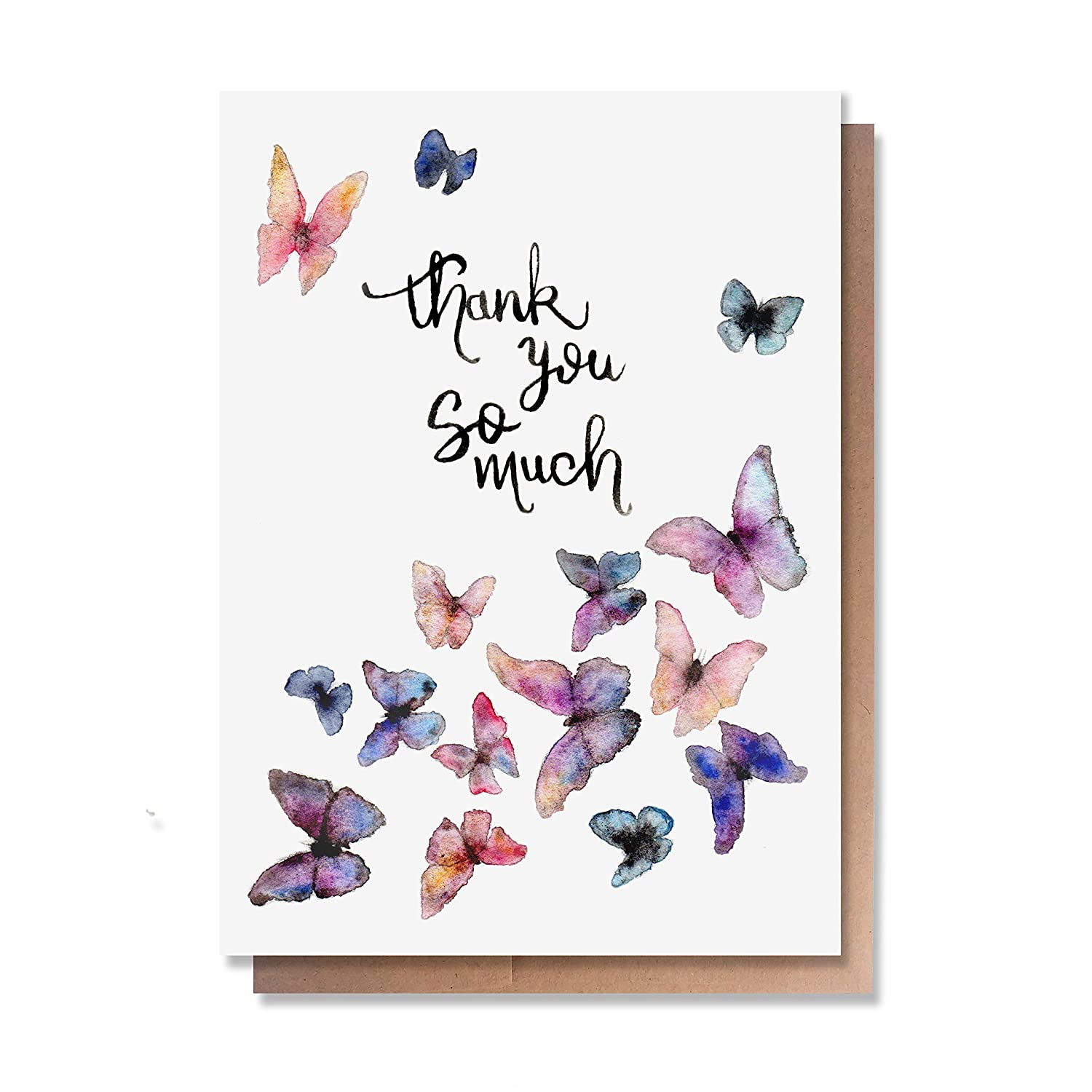 Blank Inside, Envelopes Wunderkid Thank You Cards Set of 6 Thank You Heart
