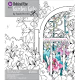 Behind The Garden Gate Adult Coloring Book