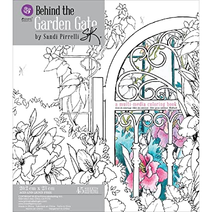 Prima Marketing Behind The Garden Gate Adult Coloring Book