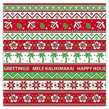Amazon Com Island Ugly Christmas Sweater Hawaiian Gift Wrap Paper