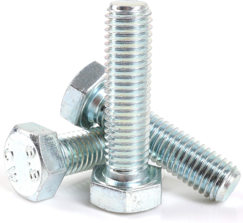 M8 x 80mm DIN933 Stainless Steel Hex Hexagon Head Screw Bolt Cap 5 Pcs