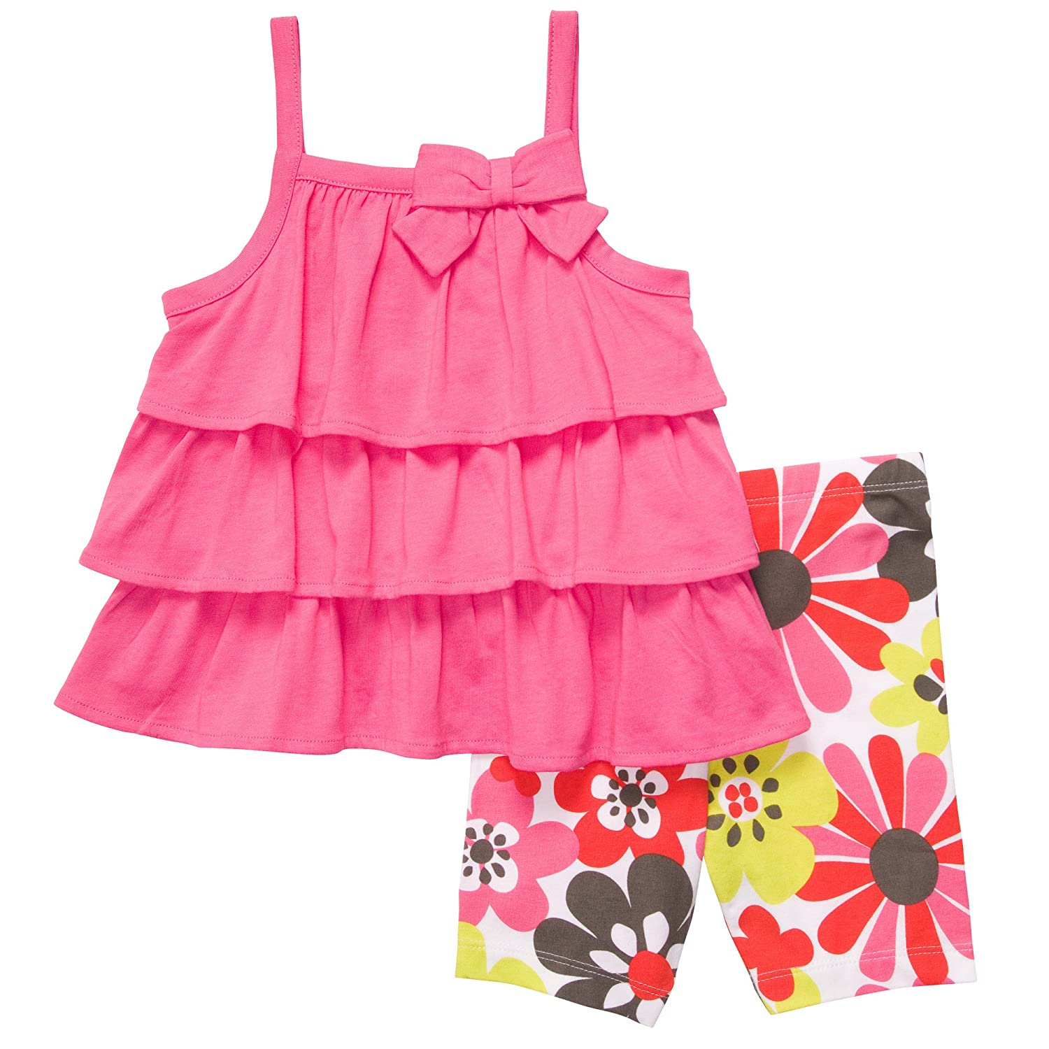 Floral Shorts Set Carters Baby Girls 3 Months Pink Tiered Tunic