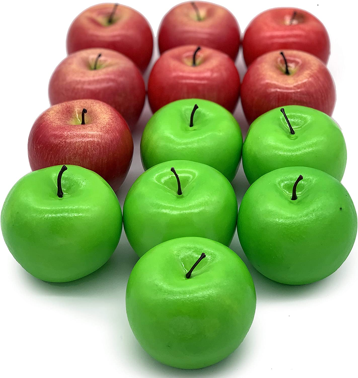 Dasksha Realistic Fake Apples - 13 PCS - 7 Red Apples and 6 Green Apples - Fake Fruits for Decoration