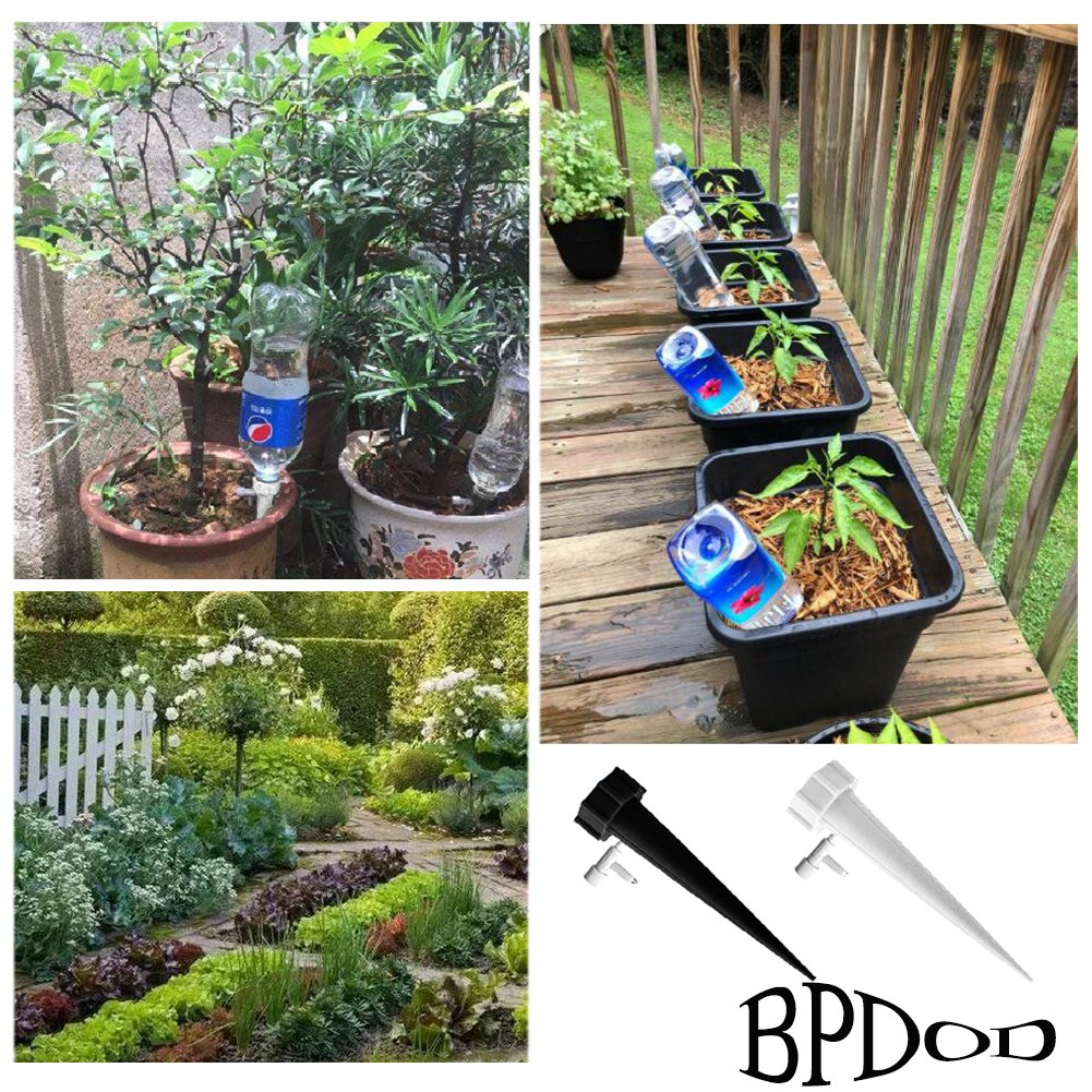 BPDOD Plant Watering Spikes Self Irrigation System Automatic Watering Devices Nannies for Indoor&Outdoor Garden Vacation Dripping Slow Release Adjustable Switch (10)