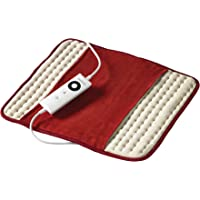 Sunbeam EP5000 Heat Pad,White/Red