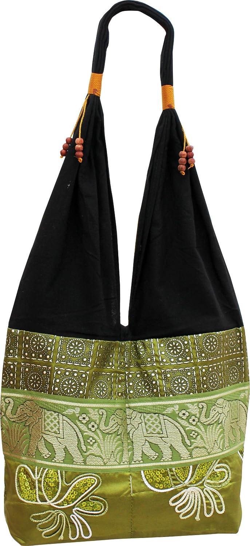 Black Full Funk Brand Silk Squiggle Line Throw Over Ladies Shoulder Bag