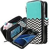 Galaxy S7 Edge Case, E LV Galaxy S7 Edge - 2IN1 ( CASE CUM PURSE) TPU+PU Leather flip Wallet Bag Pouch Case Cover For Samsung Galaxy S7 Edge - [ZIGZAG]