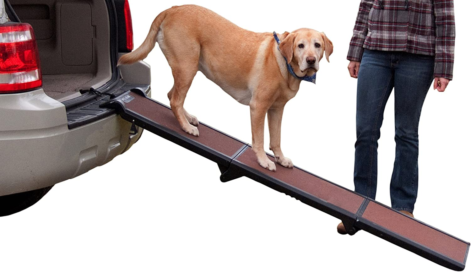 Pet Gear Tri Fold Ramp Supports Up To 200lbs 71 In Long Patented Compact Easy Fold Design Two Models To Choose From Safety Tether Included Automotive Pet Ramps Pet Supplies