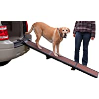 Pet Gear Full Length Ramp, Patented Compact Easy-Fold Design, Lightweight/Portable, Safety…