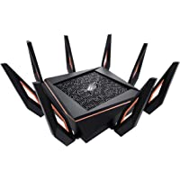 ROG Rapture GT-AX11000, AX11000 Tri-band WiFi 6 (802.11ax) Gaming Router World's first 10 Gigabit Wi-Fi router with a…