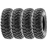 SunF 25x8R12 Tubeless 6 PR 25' ATV UTV Tires A043 [Set of 4]