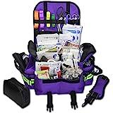 Lightning X Small First Responder EMT EMS Trauma Bag Stocked First Aid Fill Kit B (Purple)