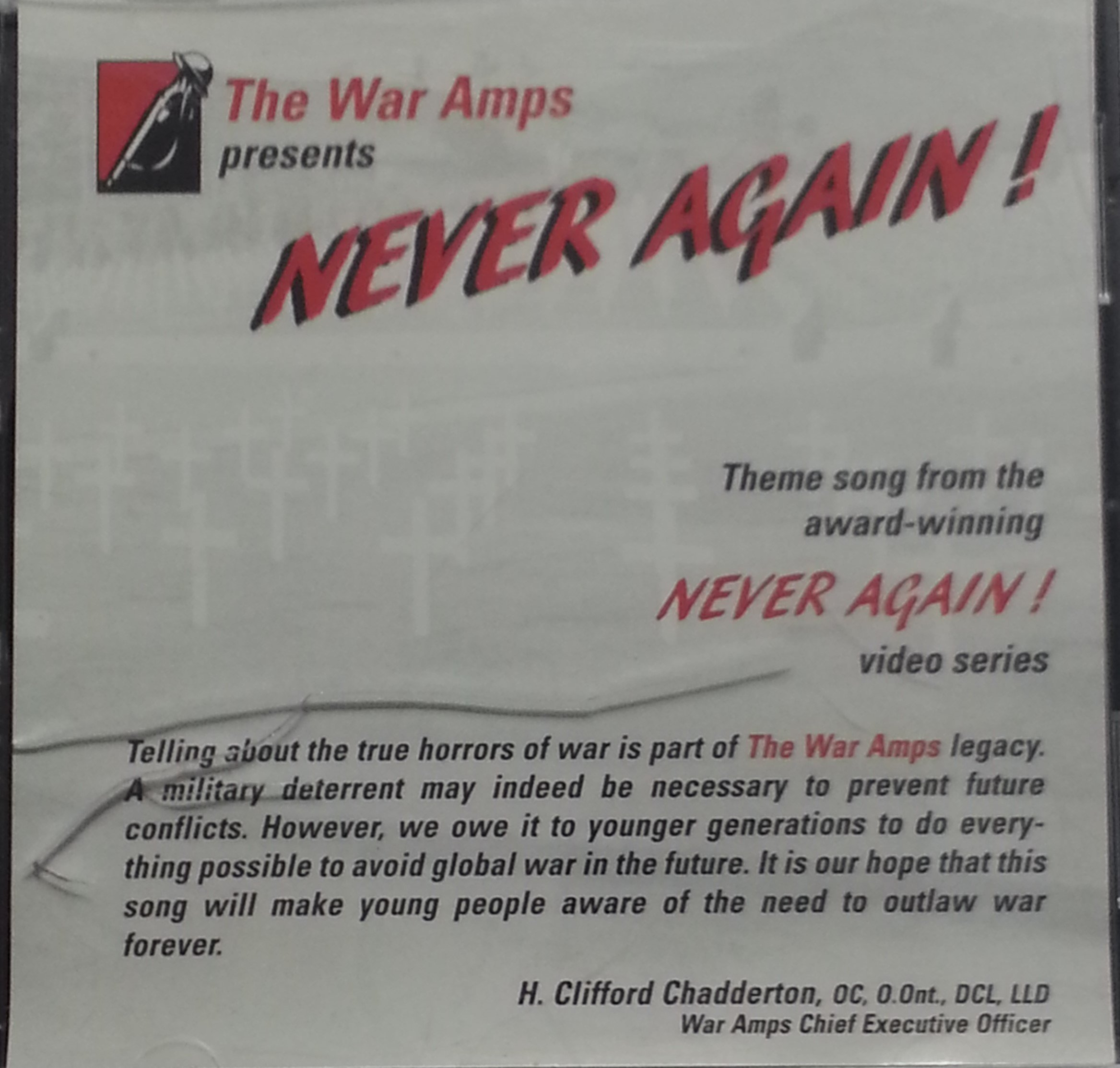 Never Again! The Theme Song from the Award Wining Never Again Video