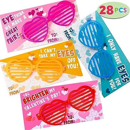 : JOYIN 28 Pcs Valentines Day Gift Cards with