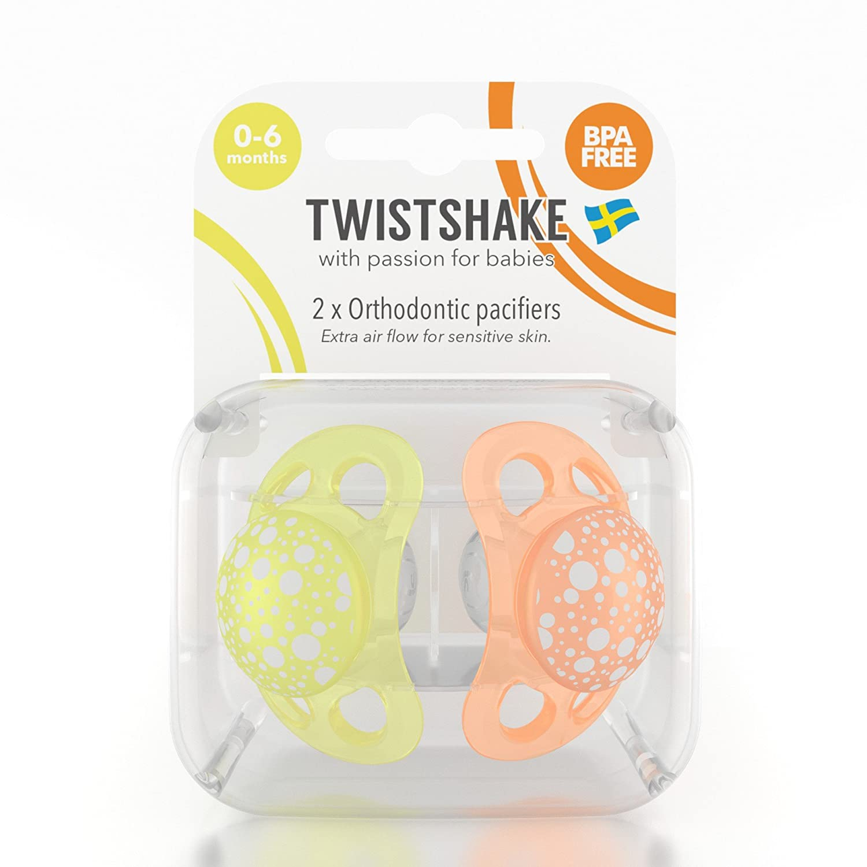 Twistshake 78084 - Chupete, color naranja amarillo: Amazon ...