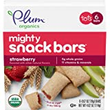 Plum Organics Mighty Snack Bars for Toddlers, Strawberry Fruit Snack Bar, 4 Ounce Box