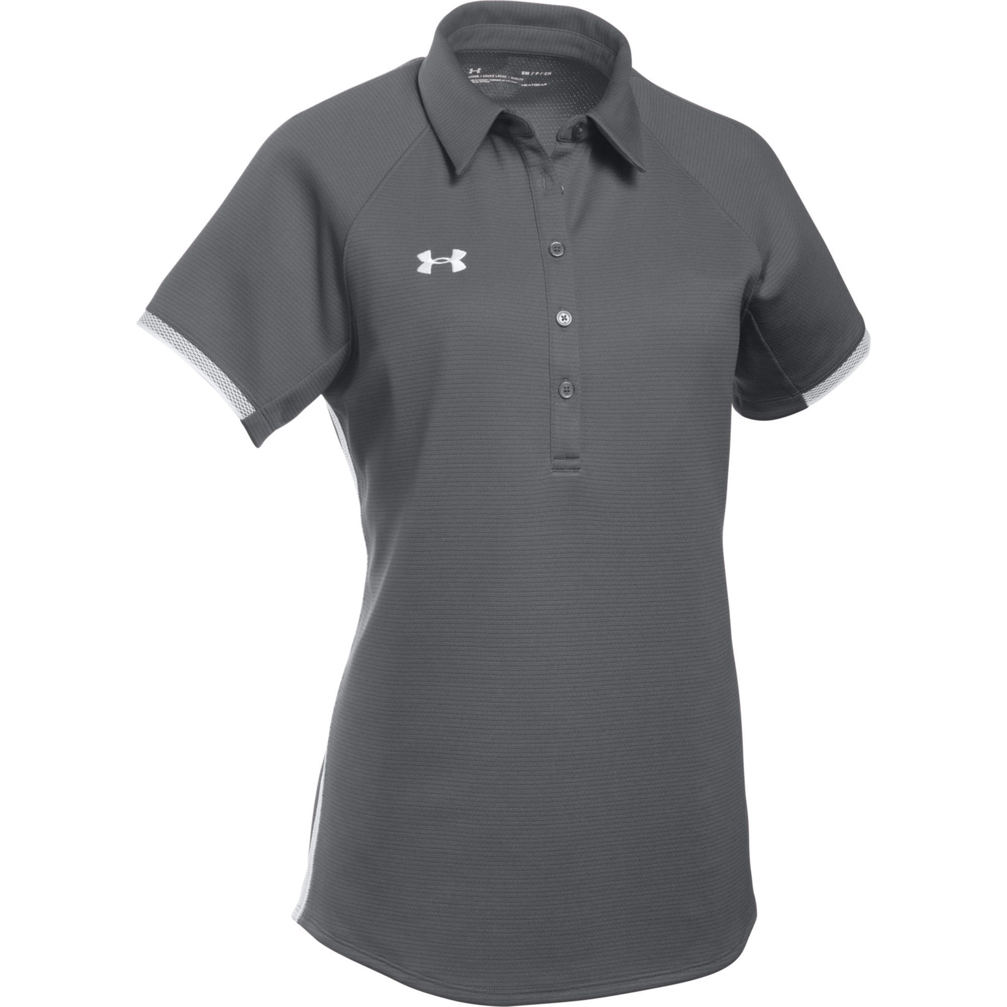 Under Armour Women's UA Rival Polo (Large, Graphite-White) by Under Armour